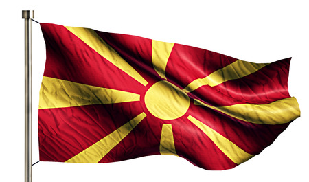 anthem: Republic of Macedonia National Flag Isolated 3D White Background