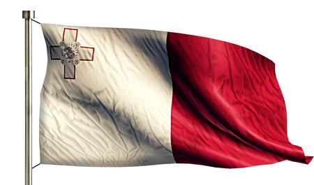 valletta: Malta National Flag Isolated 3D White Background