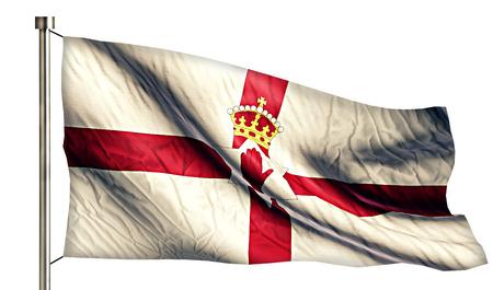 northern ireland: Northern Ireland National Flag Isolated 3D White Background