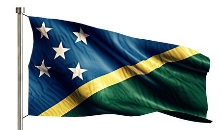 anthem: Solomon Islands National Flag Isolated 3D White Background