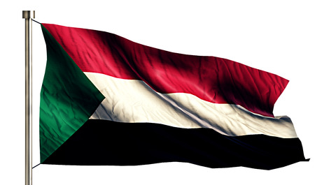anthem: Sudan National Flag Isolated 3D White Background