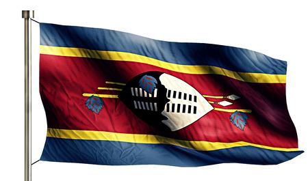 anthem: Swaziland National Flag Isolated 3D White Background Stock Photo
