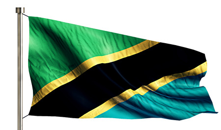anthem: Tanzania National Flag Isolated 3D White Background