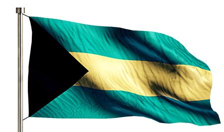 bahamas celebration: Bahamas National Flag Isolated 3D White Background