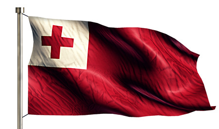 anthem: Tonga National Flag Isolated 3D White Background