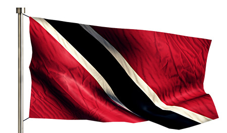 trinidad: Trinidad and Tobago National Flag Isolated 3D White Background