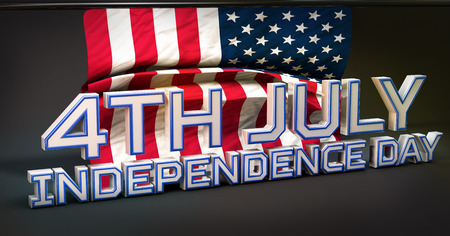 4th july: 4th July American Independence Day 3D Stock Photo