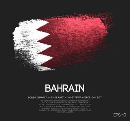 Drapeau de Bahreïn en vecteur de peinture de brosse scintillante