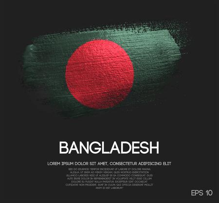 Bangladesh Flag Made of Glitter Sparkle Brush Paint Vector