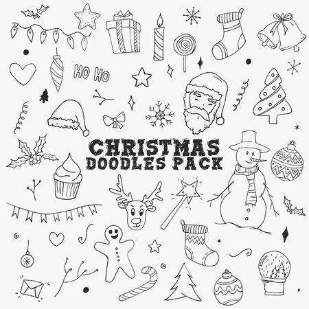 Christmas Doodles Sketch Pack Elements