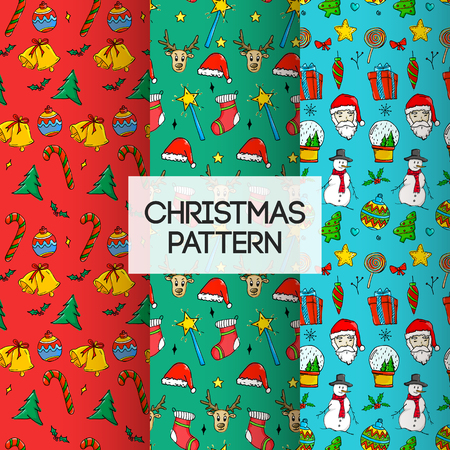 3 in 1 Seamless Christmas Pattern