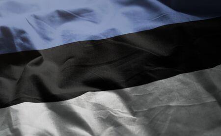 Estonia Flag Rumpled Close Up Banco de Imagens