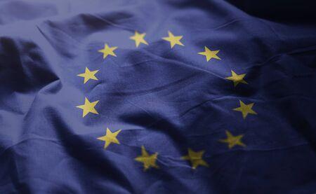 European Flag Rumpled Close Up