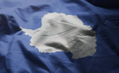 Antarctica Flag Rumpled Close Up