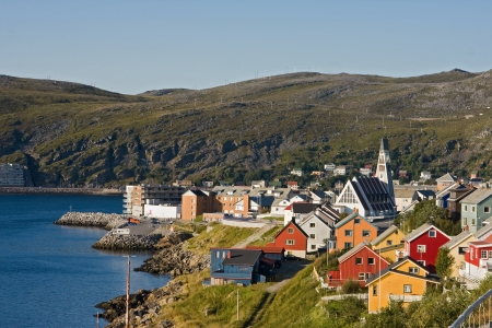 Hammerfest in norway  Stock Photo