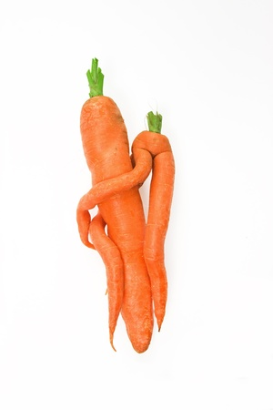 embraced: embraced carrots