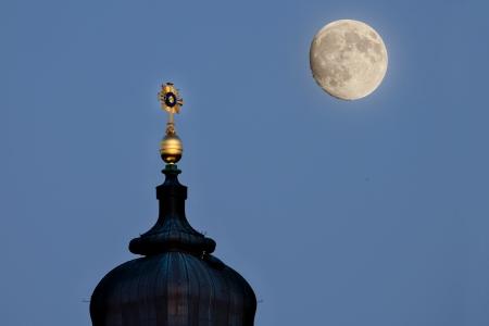 full moon night in Dresden photo