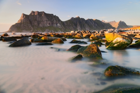 evening on the Lofoten islands photo