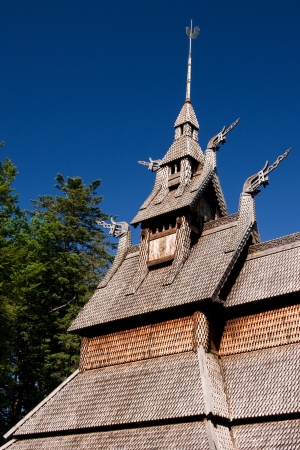 stave church fantoft  Stock Photo