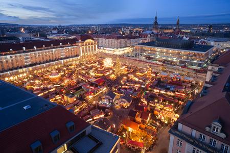 christmas market in Dresden Standard-Bild