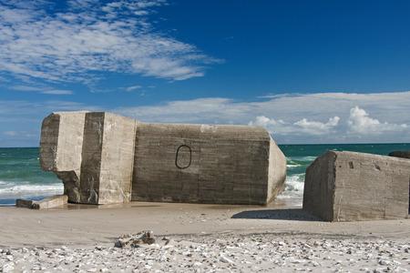 jutland: bunker in denmark Stock Photo