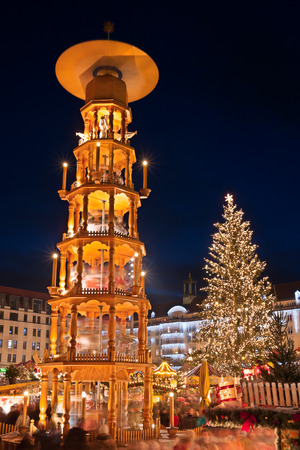 christmas market in Dresden photo