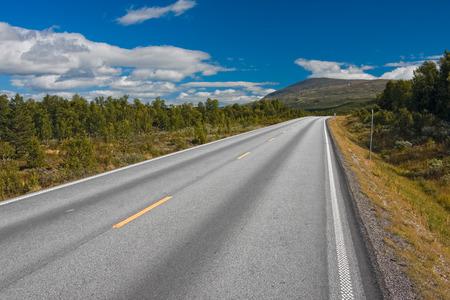 road in norway Standard-Bild