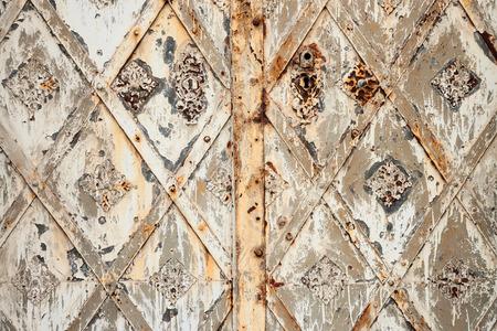 doorlock: old rustly door Stock Photo