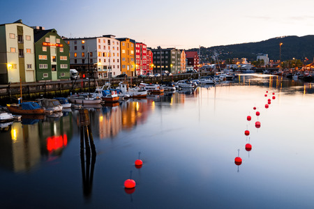 evening in Trondheim Stock Photo