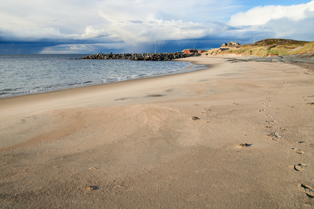 inclement: beach in norther norway