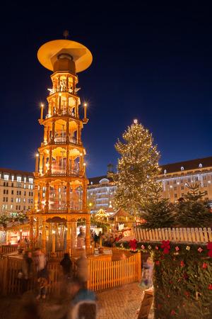 striezelmarkt: christmas market in Dresden Stock Photo