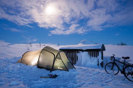 sweden in winter: winter camping in sweden