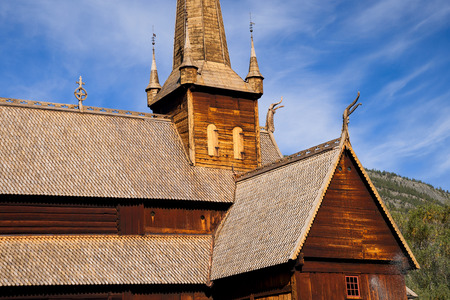 stave: stave church Lom in norway