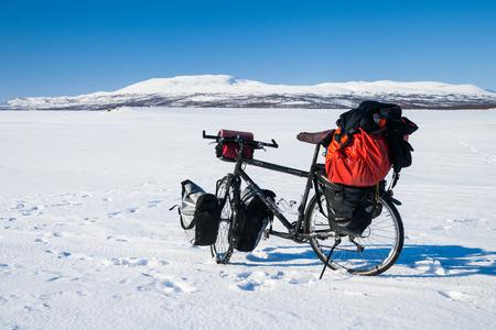 sweden in winter: winter bicycle trip in sweden