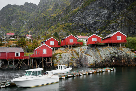 rorbuer: village A on the Lofoten islands