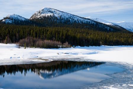 sweden in winter: river in sweden in the winter