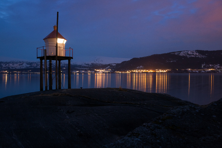 mo: lighthouse near Mo i Rana in norway