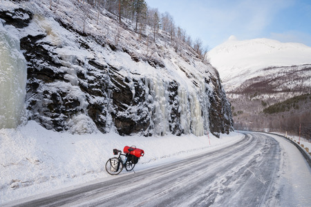 road cycling: winter cycling in norway