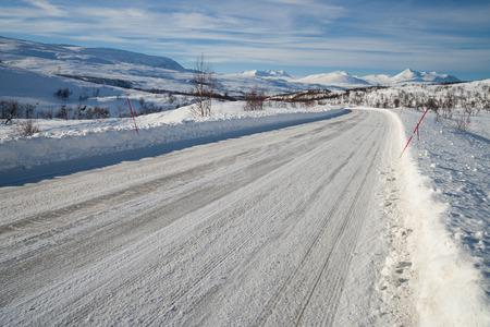 sweden in winter: winter landscape in sweden during a sunny day