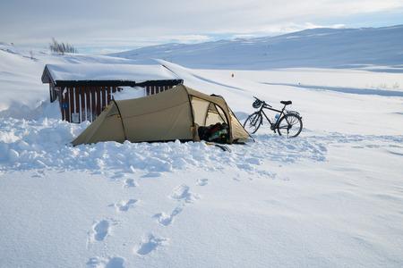 sweden winter: winter camping in sweden