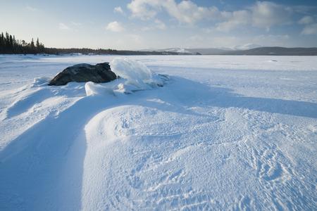 frozen lake: frozen lake in sweden Stock Photo