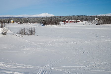sweden in winter: a beautiful cold winter day in sweden