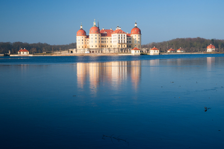 Moritzburg Castle at a cold winter day