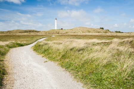 Lyngvig lightouse in Denmark Stock Photo