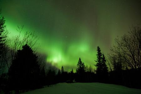 geomagnetic: Aurora borealis display in norway