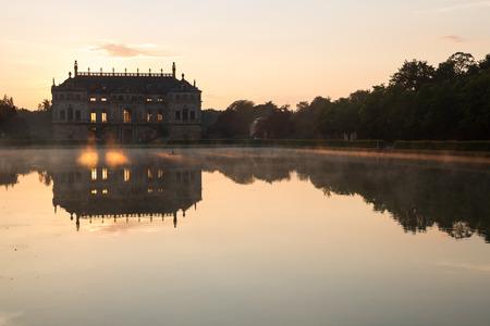 palais: Palais in Dresden at sunset