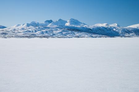sweden in winter: beautiful sunny winter day in sweden