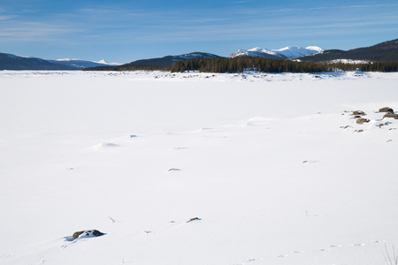 sweden in winter: winter landscape in sweden