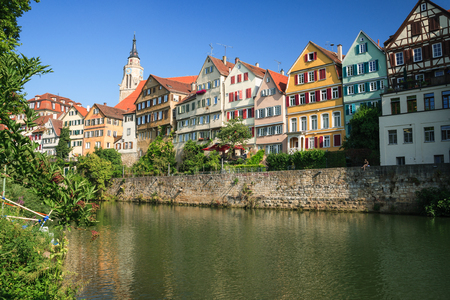 cityscape of Tübingen during a nice summer day