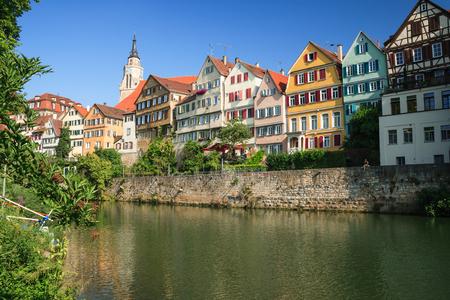 cityscape of Tübingen during a nice summer day Standard-Bild